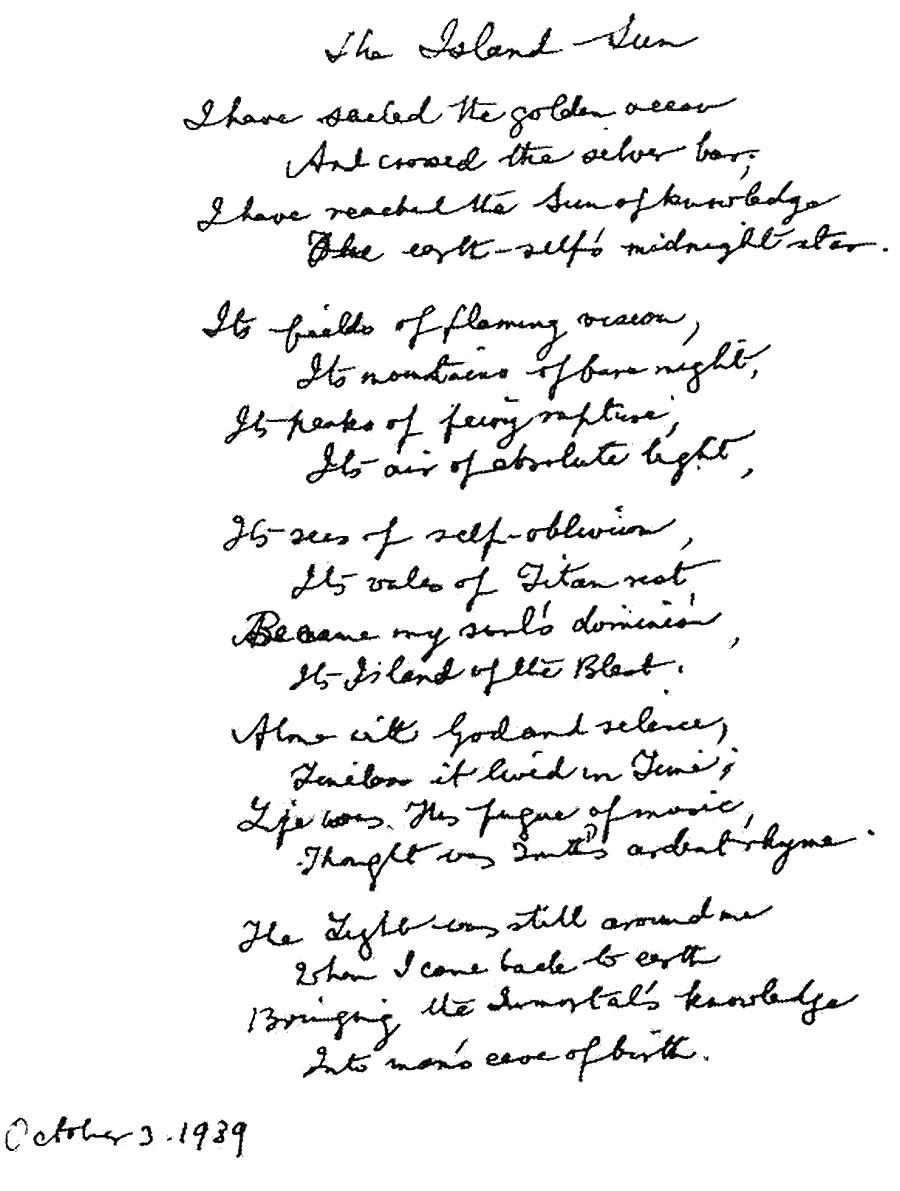 the golden light poem by sri aurobindo summary